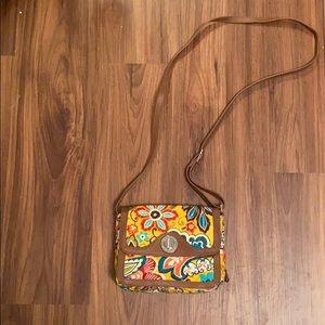 Vera Bradley | Crossbody purse w/ leather trim